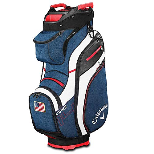 Callaway Golf 2019 Org 14 Cart Bag, Navy/White/Red/Usa Flag (Patriotic Bag Golf)