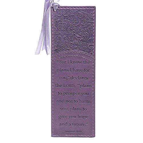 Purple Jeremiah 29:11 Faux Leather Pagemarker / Bookmark