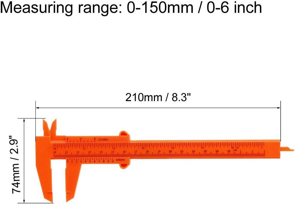 Sourcing Map Messschieber Kunststoff Messwerkzeug f/ür Pr/äzisionsmessungen au/ßen und innen metrisch