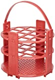 Bel-Art F18743-1016 No-Wire Round Test Tube Rack; 13-16mm, 14 Places, Red, Polypropylene