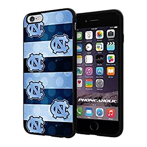 """NCAA NC University of North Carolina Tar Heels #8 , Cool iPhone 6 Plus (6+ , 5.5"""") Smartphone Case Cover Collector iphone TPU Rubber Case Black"""