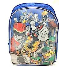 "3D Saban's Power Ranger Dino Super Charge 16"" Canvas Blue School Backpack"