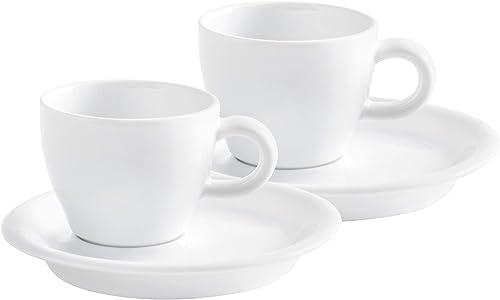 Italienische Espressotassen Set, dickwandig, weiß, 4 teilig Café Sommelier 2.0