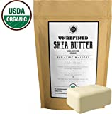 Raw Shea Butter (1 LB), USDA Certified Organic, Unrefined, Natural, Creamy, African Butter, Fair Trade. Lotions, Soap, Conditioner, Eczema & Stretch Marks Products, Hand Cream, Body, Lip Balm (1 LB)