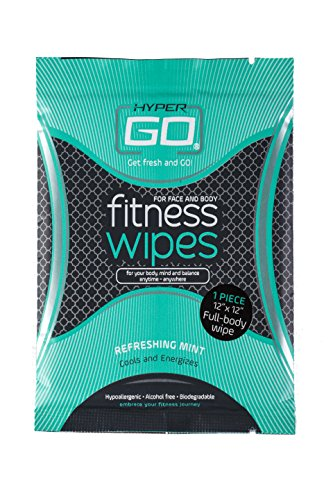 HyperGo-Fitness-Wipes-Full-Body-Wipes-Refreshing-Mint-Scent-Hypoallergenic-All-Natural-Ingredients-Biodegradable-10-Individually-Wrapped-Wipes-for-On-The-Go