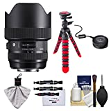 Sigma 14-24mm f/2.8 ART DG HSM Zoom Lens with USB Dock + Tripod + Kit for Canon EOS Digital SLR Cameras