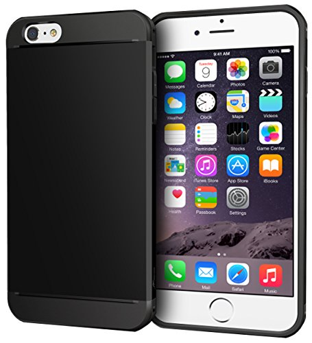 iPhone 6s Plus Case, Apple iPhone 6s Plus, rooCASE [Exec Tough] Slim Fit Case Protective PC/TPU [Corner Protection] Armor Cover Shock Resist Rugged Protective Case for iPhone 6 Plus - Black