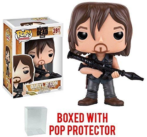 Funko Pop! TV: The Walking Dead - Daryl Dixon with Rocket Launcher #391 Vinyl Figure (Bundled with Pop Box Protector Case)