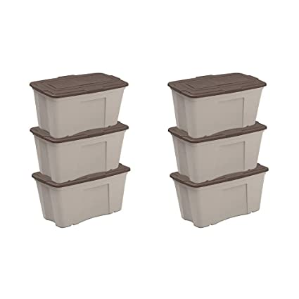 Etonnant Amazon.com : Suncast B501824 50 Gallon Taupe Outdoor Accessory Storage Bin  With Lid, 3 Pack (2 Pack) : Garden U0026 Outdoor