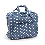 Hobby Gift Denim Polka Dot Design PVC Sewing Machine Bag (20 x 43 x 37cm)