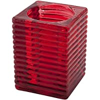 "Nextday Catering Equipment Supplies nev-hhr""relieve"" candle holder, rojo"
