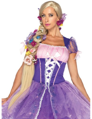 Leg Avenue Disney Rapunzel Wig, Blond, One Size (Sexy Princess Costumes For Adults)
