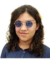 BuyTheBeatles John Lennon Round Lens Sunglasses, Light Blue