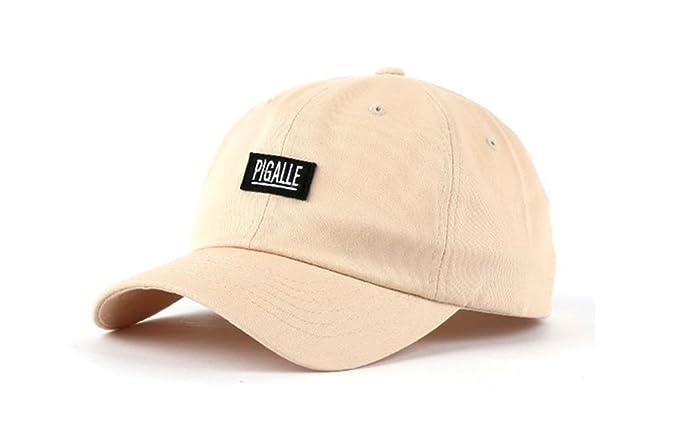5203f9a2c04 Pigalle Cotton Baseball Caps Hats Unisex Kpop Accessories Men Women (Beige)