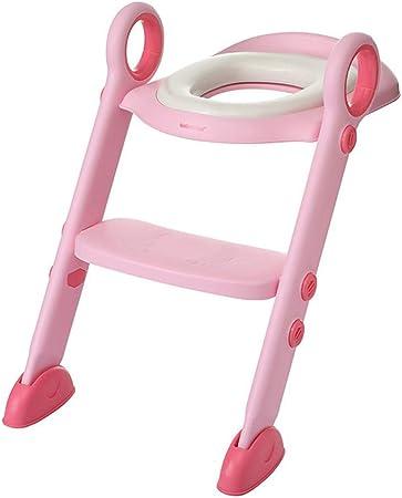 KJGFD Reductor WC NiñOs Aseo Asiento con Escalera, Bebe Orinal Infantil Antideslizante/Plegable Asientos WC Escalera Adecuado para NiñOs De 1 A 7 AñOs(Rosa),Pink: Amazon.es: Hogar