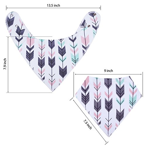 10-Pack Baby Girl Bandana Drool Bibs Gift Set for Drooling Teething by MiiYoung by MiiYoung (Image #3)