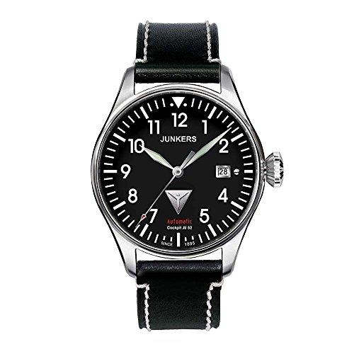 Junkers Cockpit JU52 21J Automatic Men's Analog Date Watch Black 6150-2 ()