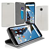 CaseBase® Ultra-Slim Premium Folio Case Cover with Flip-Stand for New 2014 Google Nexus 6 / Motorola Nexus 6 ** White **