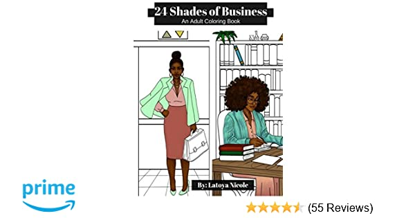 Amazon Com 24 Shades Of Business An Adult Coloring Book