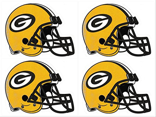 (fb ag 4 Green Bay Packers Die Cut Stickers NFL Football Helmet G Logo Sticker GB Team Set)