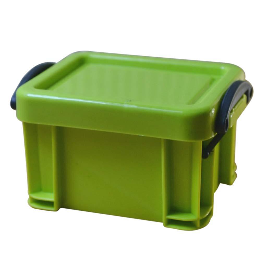Fityle Mini Storage Lock Boxes Cute Home Accessories Tools Organizer Bins - Green