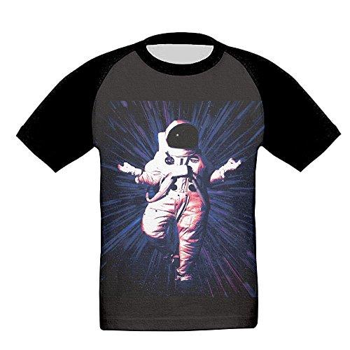 Youth Float Satronaut Baseball Raglan Short Sleeves T-Shirt Sports Crew Uniforms Slim - Scuderia West