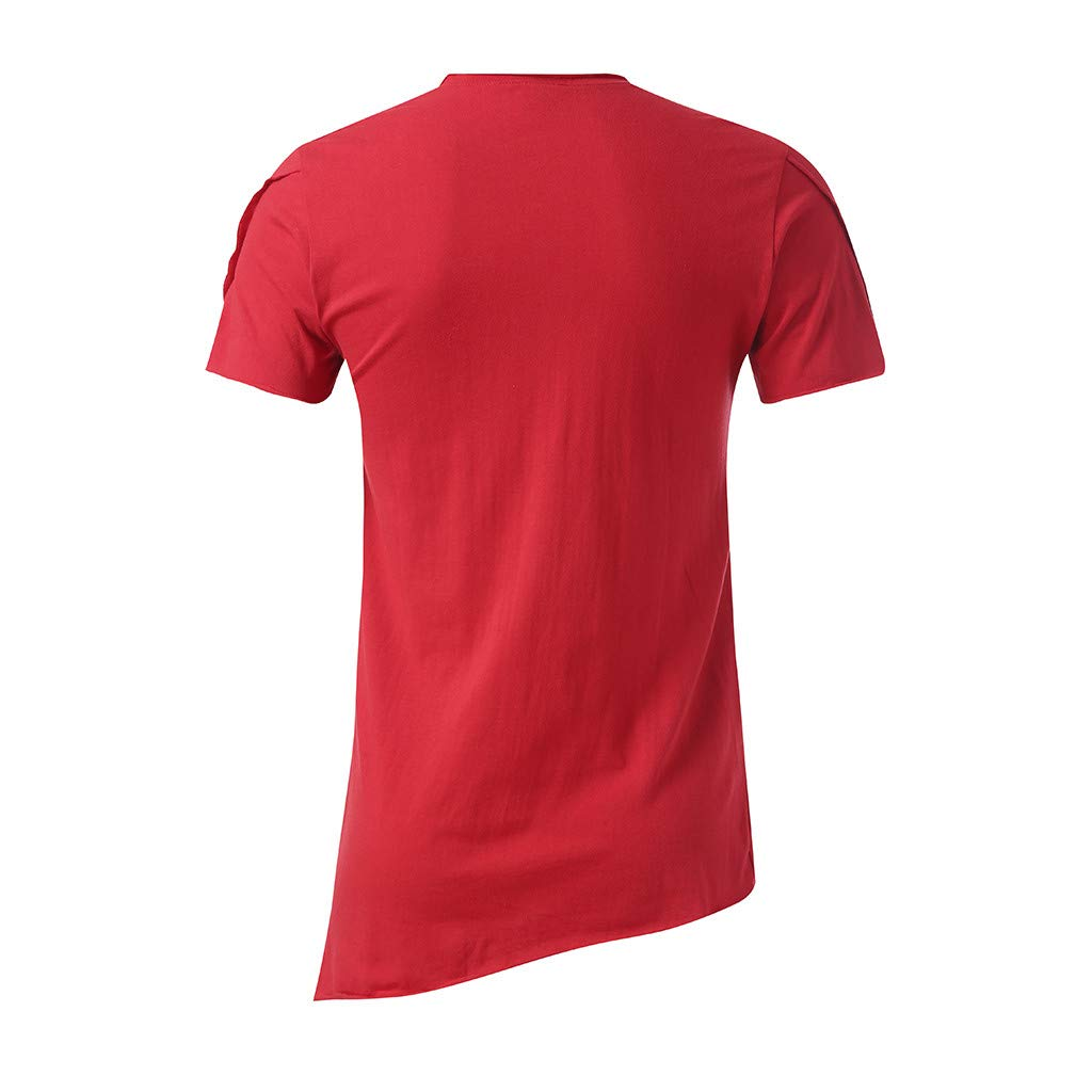 Mens Simple Fashion Short Sleeve,MmNote Loose Active Performance Sports Elastic Antibacterial Cool Quick T-Shirt