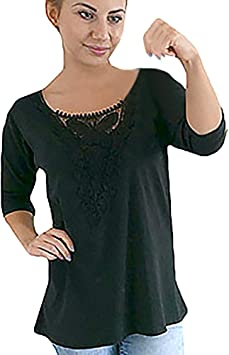 Ronamick Camisetas Divertidas Mujer Botones Blusa Roja Mujer Fiesta Tops Mujer Fiesta Elegante Botones Camisa Mujer Talla Grande (Negro,S): Amazon.es: Hogar