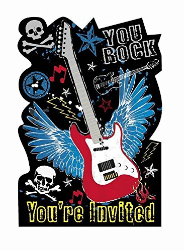 Amscan Party Rock Invitations w/Envelopes (8ct)