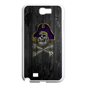 Samsung Galaxy N2 7100 Cell Phone Case White_Wood pirateskull TR2344718