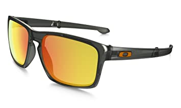 52ef550726 Image Unavailable. Image not available for. Colour  Oakley Men s Sliver F Polarized  Iridium Rectangular Sunglasses ...