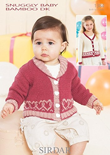 - Sirdar Baby Cardigans Knitting Pattern 1384 DK