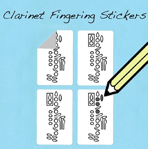Clarinet Fingering Stickers Set (250 Pack) Super handy for students and teach... whirlwindpress.ca