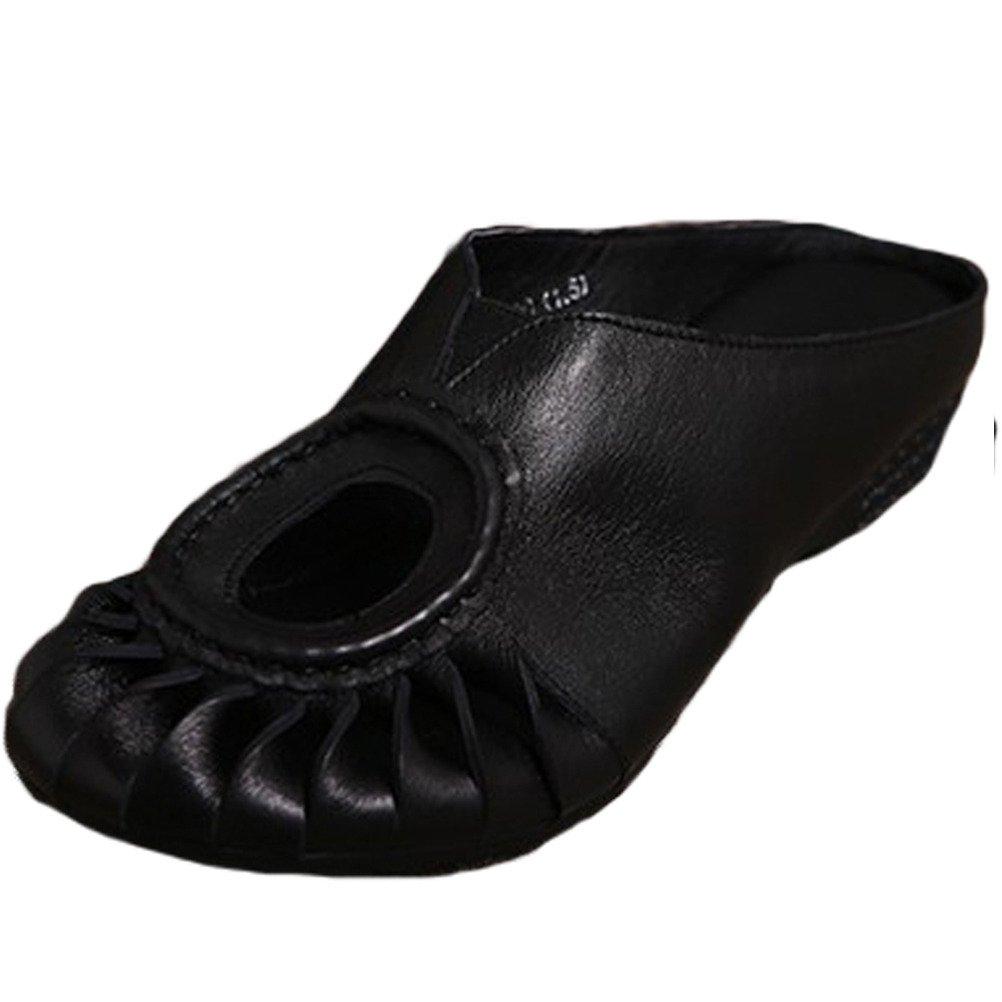 Vogstyle Donna Nuovi Sandali In Pelle Pistoni Della Spiaggia Stile-1 Nero
