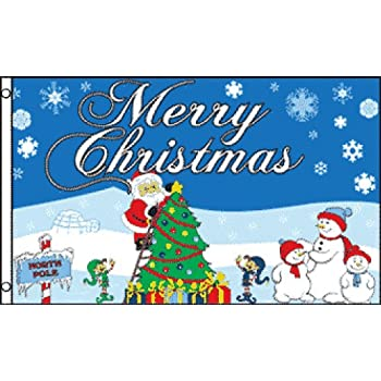 merry christmas northpole 3x5 ft polyester flag