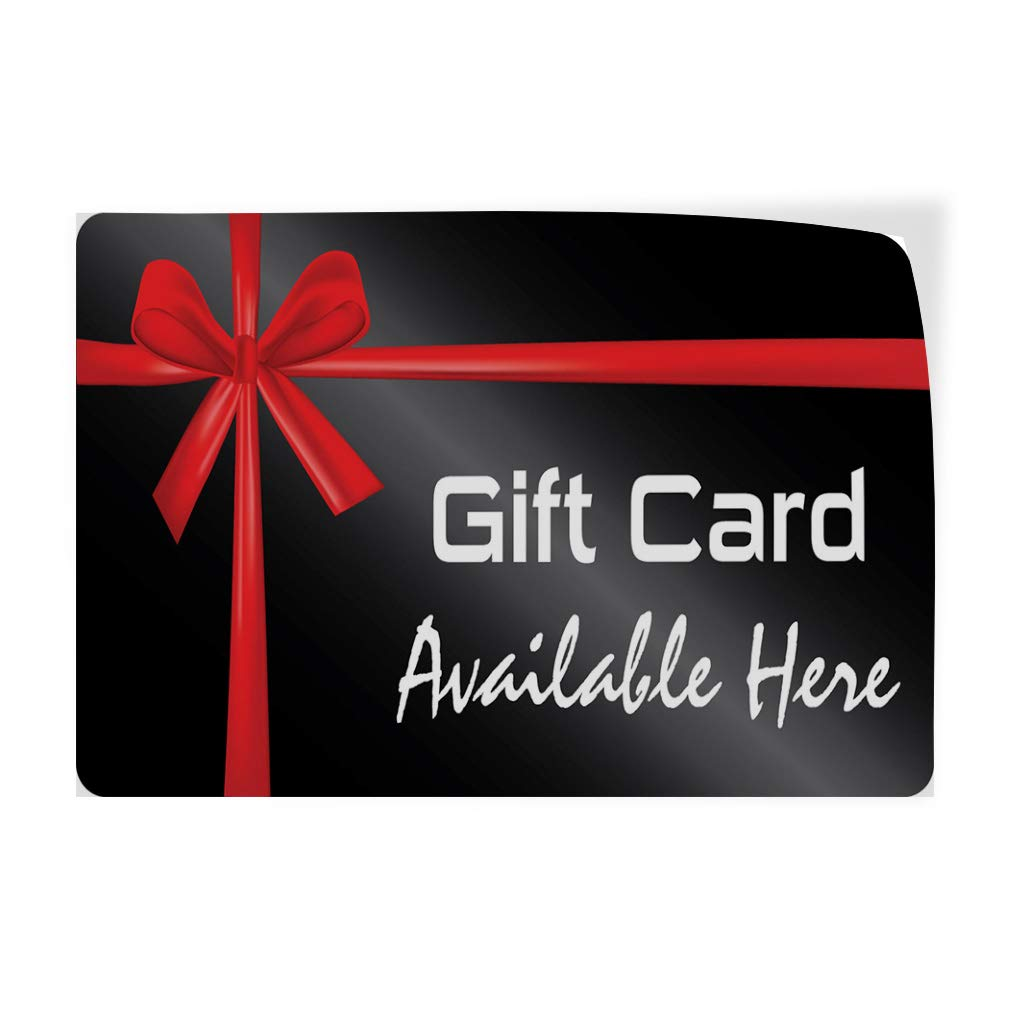 Decal Sticker Multiple Sizes Gift Card Available Here Business Style U Business Gift Card Available Here Outdoor Store Sign Black - 72inx48in,