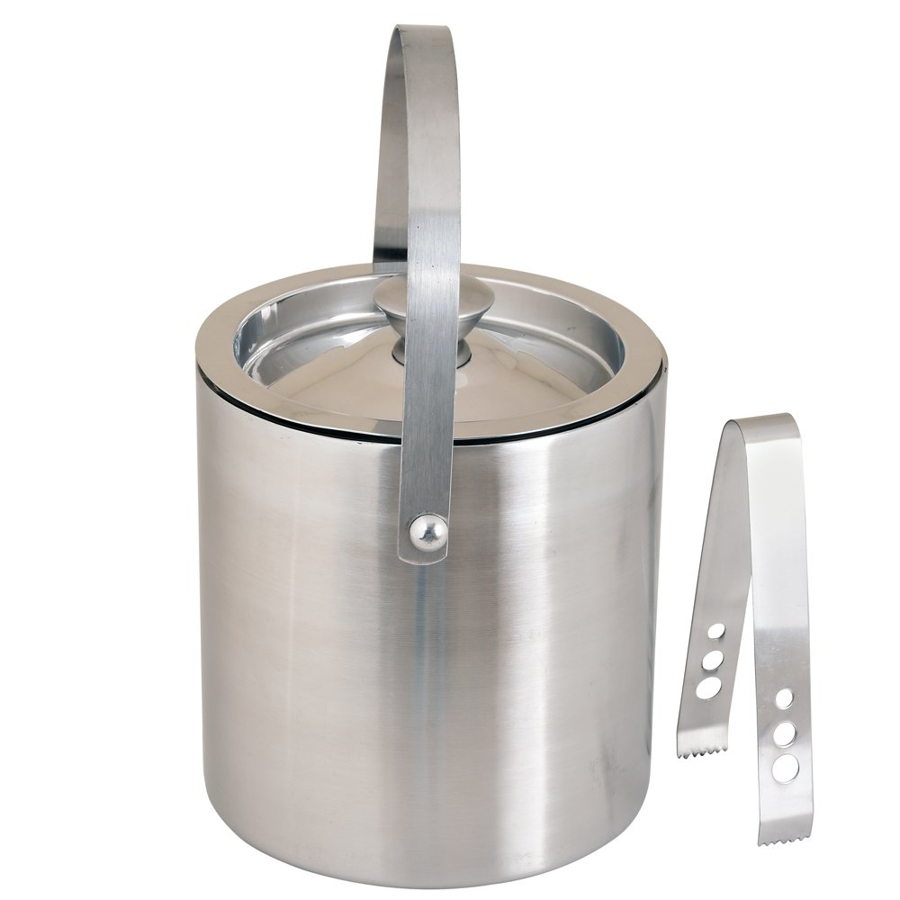 Kosma Stainless Steel Double Wall Ice Bucket with Tongs | Ice Cube Bucket - 18 x 15 cm by Kosma (Image #3)