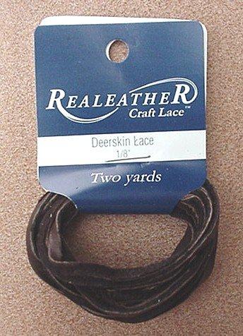 Deerskin Lace Lacing Leather Topgrain Dark Brown 2 Yds