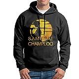 Samurai Champloo Mens Fleece Pullover Hooded Hoodies Black