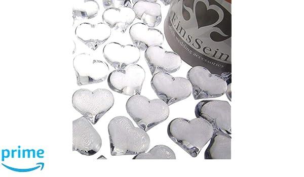 Einssein 100x Cristales de Corazones Brillantes Acr/ílico 22mm Claro Boda decoraci/ón Mesa Decoracion Corazon Abalorios abalorio Cristal San Valentin para mesas Relleno Bolas acrilicas de Decoraciones