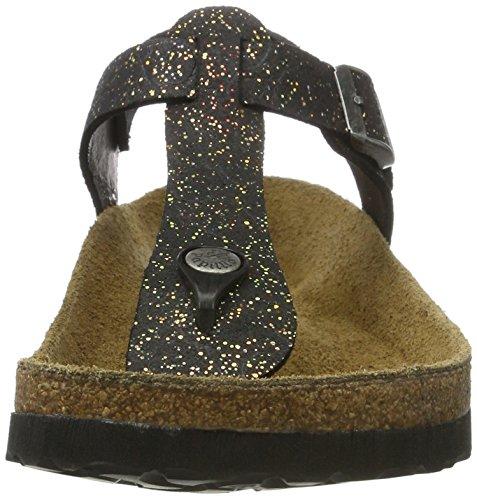 Papillio Negro Black Tira 1 Con grace Kairo Sandalias Leder Mujer rwxFrp7q