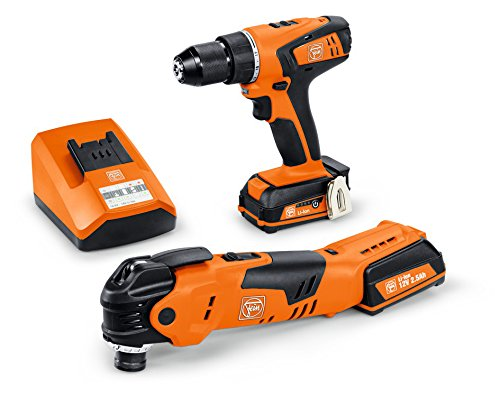 FEIN AFMT 12Q + ABSU 12C 12 V 2 Speed Cordless Drill/Multi-Talent Driver