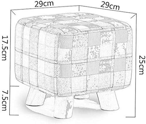 Widely Square Pouffe Chair Wechselschuhe Hocker Kleiner Fußschemel - Umweltfreundlicher Massivholzhaushalt Kreativer Stoff Quadratischer Hocker, Kinderhocker