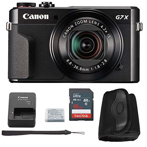 Canon G7x Mark II Digital Camera Bundle + Canon PowerShot g7
