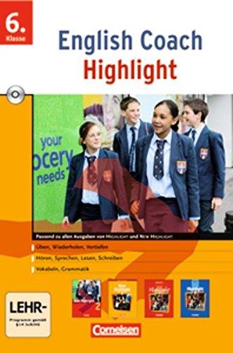 English Coach Highlight - Zu New Highlight (alle Ausgaben) - Version für zu Hause: Band 2: 6. Schuljahr - CD-ROMs