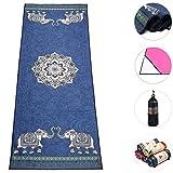 Boence Yoga Towel,100% Microfiber Yoga Mat Towel with Corner Pocket Design - Anti-Slip