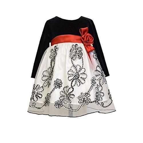 Velvet Satin Holiday Dress - 9