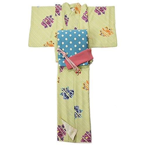 ストローク信号プロフェッショナル着物セット 仕立て上がり 正絹小紋 着物+名古屋帯+帯締+帯揚 4点セット 着物デビュー