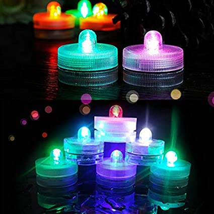 Shymery Submersible Led Lights 24 Pack Waterproof Underwater Led Color Changing Lights Battery Operated Decoration Light For Aquarium Hot Tub