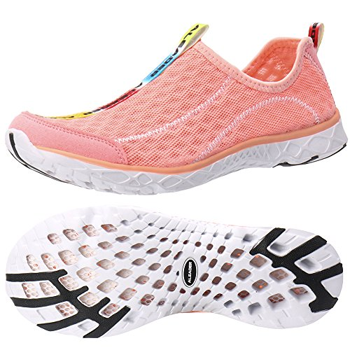 ALEADER Women's Mesh Slip On Water Shoes Sandy Rose 6.5 D(M) US